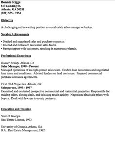 example of real estate broker resume httpresumesdesigncomexample