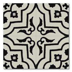This beautiful cement-marble tile offers a distinct perspective on the moroccan old tradition. A classic geometric pattern in tones of black and white gives this handmade tile for any indoor or outdoor space a remarkable accent.