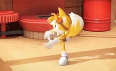 Tails chasing his own... well... tails XD