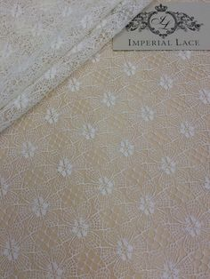 Offwhite Lace Fabric French Lace Embroidered lace by ImperialLace