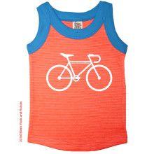 Oranje gestreepte top Bicycle