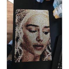 Daenerys Targaryen - Game of Thrones perler bead portrait by artbyfredd