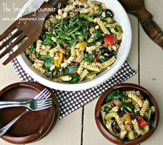 The Great Big Summer Pasta Salad  7 Points Plus Per Serving - Serves 12  Individual Serving is 1.5 Cups