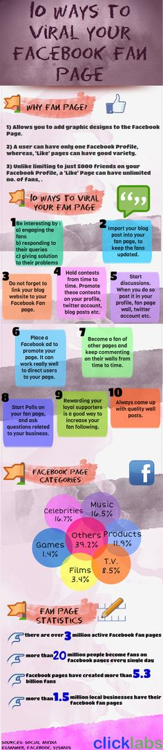 10 Ways To Popularize Your #Facebook page - #infographic