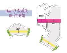 how enlarge pattern