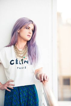 Miss Kelly O wears lavender hair oh so well.  OBSESSED with the lavender color! Wish I was a little younger and not working in a professional setting, I'd totally do it!