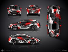 The approved full wrap design project for Opel Astra J GTC