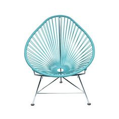 Buy Acapulco Chair from Innit Designs. The Acapulco Chair - contemporary lounge or occasional chair suitable for indoors and out. Composed of a tripod m. Patio Chairs, Side Chairs, Outdoor Chairs, Lounge Chairs, Room Chairs, Indoor Outdoor, Outdoor Living, Outdoor Lounge, Office Chairs