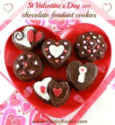 Valentine's Day Dessert: Easy Chocolate Fondant Cookies