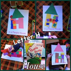 Letter H In A People House - PreK4Fun