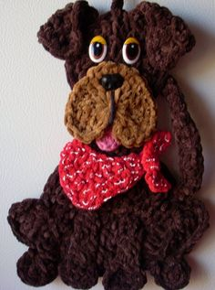 Crochet Dog,  by Jerre Lollman ~**This was originally pinned by someone else without a pattern, I pinned it anyway because it is so cute**