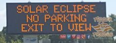 Smart advise from MoDOT along the Interstate during this week when the got dark! Solar Eclipse 2017, Social Media Pages, Missouri, Entertainment, Sun, Dark, Entertaining, Solar