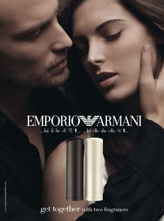 EMPORIO ARMANI he/she fragrances. World Campaign.  Image from the advertising shooting for GIORGIO ARMANI beauty.  GRUONDstudio, November 2008.  On eyes GIORGIO ARMANI cosmetics | On hairs L'OREAL Paris.  MakeUp BARBARA P. | Hair Stylist ENZO L.  Photographer's assistants NICO P. | CARMINE S. | MICHELE C.  Photographed by JOSEPH CARDO