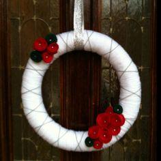 Yarn Christmas wreath