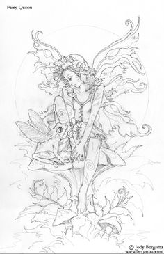 amy brown coloring pages | ... & Mermaid Blog: Free Fairy & Mermaid Coloring Pages by Jody Bergsma