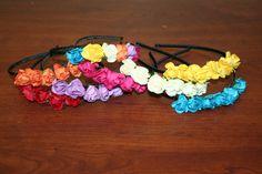 Girl's Flower Headbands One Size Flower/Stars by BabyBeautyShop