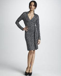 Jeanne Wrap Dress by Diane von Furstenberg at Neiman Marcus.