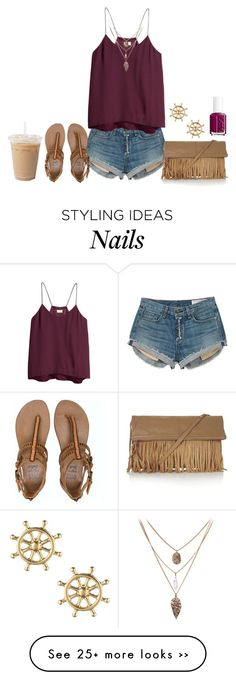 """watching one tree hill (aka) BEST show ever!!"" by madisonelizabethmcguire on Polyvore featuring rag & bone, H&M, Billabong, Sperry Top-Sider, Topshop and Essie"