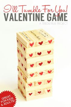 Valentines day gift idea for him, DIY Jenga, Thoughtful gifts