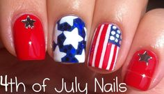 Cheerful of July Nail Art 2019 – Easy fourth of July Nail nail design july 2019 - Nail Desing French Nail Designs, Simple Nail Art Designs, Easy Nail Art, Cool Nail Art, Easy Designs, July 4th Nails Designs, 4th Of July Nails, French Nails, Ombre Hair Color