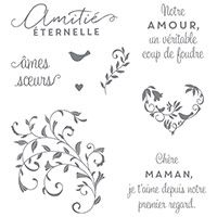 Coup de foudre Clear-Mount Stamp Set (French) by Stampin' Up!