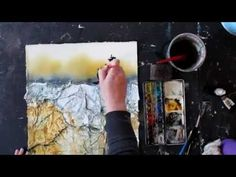 very short nice idea to follow - Preview of Mixed Media Watercolor Painting Demo by Vinita Pappas - YouTube