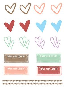 FREE printable made-with-love tags