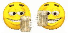Amigos emoticons con cervezas