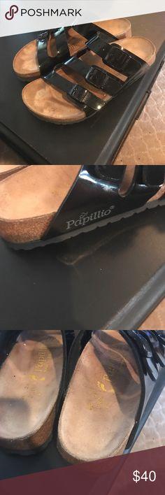 Birkenstock sandals Papillio Birkenstock Sandals Papillio black patent sandal in good condition Euro 36 Birkenstock Shoes Sandals