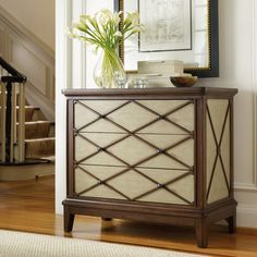 Hooker Furniture Classique X Front 3 Drawer Bachelors Chest | from hayneedle.com