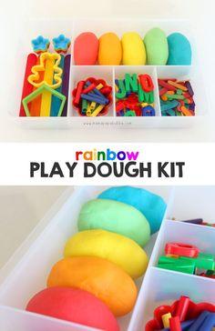 Rainbow Play Dough Kit | Mama.Papa.Bubba.