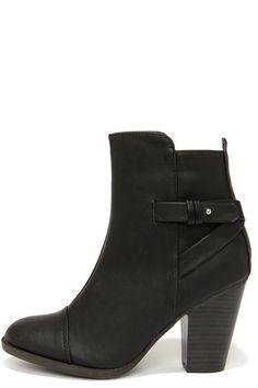 Swoon Walker Black High Heel Ankle Boots
