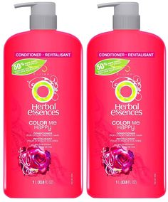 Herbal Essences Color Me Happy Hair Conditioner for Color-Treated Hair with Pump - oz - 2 pk * Click image for more details. (This is an affiliate link and I receive a commission for the sales) Color Shampoo, Hair Shampoo, Gluten Free Shampoo, Shower Routine, Herbal Essences, Moisturize Hair, Hair Conditioner, Hair Care Tips, Herbalism