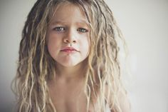 faking baby dreads --- haha, this kid reminds me of Bennett