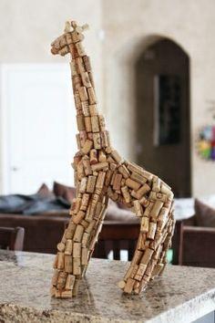 Wine Cork Crafts~ cork animals!
