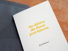 Hochzeitskarten - Hochzeitskarte - Gratulation - ein Designerstück von smallcaps bei DaWanda