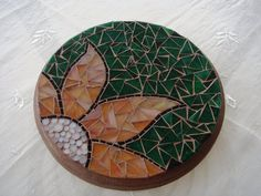 Handmade mosaic trivet by glgn on Etsy, $40.00