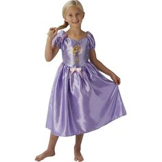 Disney Princess Childs Fairytale Rapunzel Childs Costume (30 CAD) ❤ liked on Polyvore featuring costumes, fancy costumes, purple princess costume, purple costume, fancy halloween costumes and princess costumes