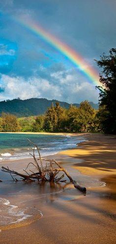 Kauai rainbow in Hawaii