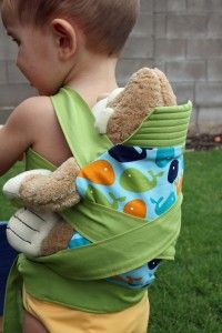 Ryan has been obsessed with wearing his bears in the Mei Tai I wear him in, so I want to make him one of these! The Shopping Mama » Mei Tai Doll Carrier Tutorial {Mindful Mama}