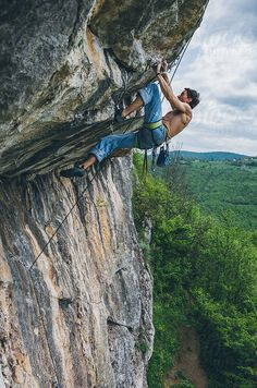 Powerful rock climber by RGB Images #stocksy #realstock