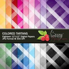 Tartans Digital Paper pack, printable, great for scrapbooking and more. For sale for $2.50 at my shop on Etsy.com. :)