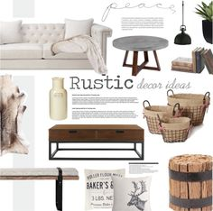 """""""Rustic Decor"""" by dian-lado on Polyvore"""