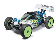 This Tamiya TRF8101X GP Racing Buggy is a nitro-fuelled RC car featuring a highly efficient drive system coming from the optimized placement of the front and rear propeller shafts. The drive line is virtually straight which makes it the most efficient drive-line in its class. The TRF801X chassis has plenty of adjustability to fine tune it for the most demanding of race tracks across the globe.