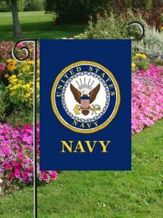 NAVY - United States Navy - Garden Size 12 Inch X 18 Inch Decorative Flag by Custom Decor. $11.94. 12 Inch X 18 Inch Garden Size. You will love the vibrant colors of this American made small flag. Display it with pride in your garden or front yard. This small flag measures 12 inches by 18 inches. You will appreciate the soft feel, fine knit and excellent image reproduction on the signature 300 denier fabric. The image and text on the back side are the REVERSE of the front...