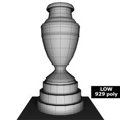 Buy Copa America cup trophy low detail by on Low detailed models of Copa America cup trophy. Models are fully textured with all applied materials: - textures f. America, Texture, 3d, Detail, Surface Finish