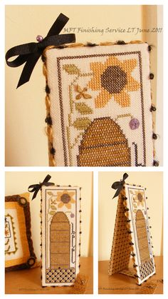 darling beehive cross stitch embroidery