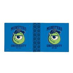 Mike Monsters University Est. 1313 light 3 Ring Binders #Disney #MonstersUniversity #MonstersInc #Zazzle
