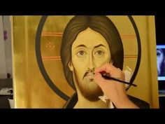 Painted orthodox icon of Jesus Christ Pantocrator from Sinai Mountain - YouTube