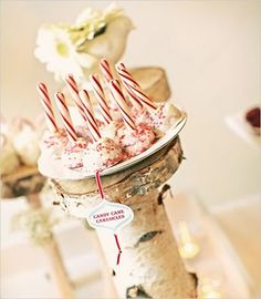 Candy cane #cake pops